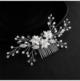 $enCountryForm.capitalKeyWord Australia - 2019 Newest Handmade Austrian Crystal Flower Wedding Hair Comb Bridal Hair Jewelry Accessories Clips for Women JCH216