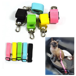 Clip Nylon Dog Collar Australia - Pet Cat Seat Belt for Cats Dog Puppy Car Seat Belt Harness Lead Clip Pet Cat Supplies Safety Lever Auto Traction Products