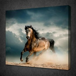 Hd Painting Horse Run Australia - RUNNING BROWN HORSE,Home Decor HD Printed Modern Art Painting on Canvas (Unframed Framed)