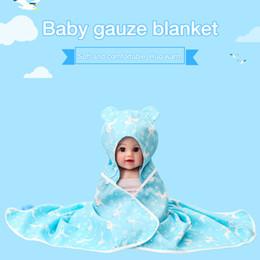 $enCountryForm.capitalKeyWord Australia - new Cotton Baby Blankets Newborn Soft Organic Cotton Baby Blanket Muslin Swaddle Wrap Feeding Burp Cloth Infant Wrap Sleepsack