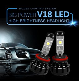 Lamp H4 Australia - V18 Car light Kit H4 LED H13 9007 H7 H11 9005 9006 H1 H3 XHP70 6000K Fog Headlight Bulbs Lamps Canbus