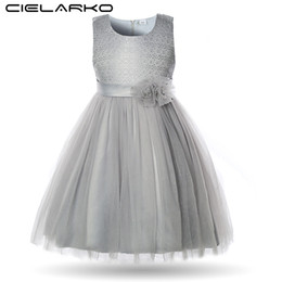 $enCountryForm.capitalKeyWord UK - Cielarko Elegant Flower Girls Dress Lace Children Wedding Party Ball Gowns Kids Birthday Frocks Baby Dresses Clothes For Girl J190712