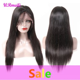 dhgate virgin brazilian hair NZ - Glueless Human Hair Lace Front Wigs For Women Black Pre Plucked Brazilian Virgin Remy Straight Hair Lace Wig With Baby Hair dhgate perruque