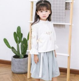 $enCountryForm.capitalKeyWord Australia - Hanfu children's wear improved daily Chinese element children's women's suits Autumn new products Embroidered Chinese style skirt