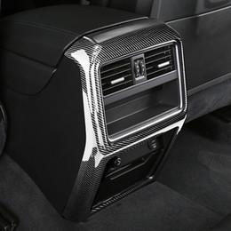 $enCountryForm.capitalKeyWord Australia - Carbon Fiber Printed Car Rear Center A C Air Outlet Cover Moulding Trim for Porsche Cayenne 2018 Styling Accessories
