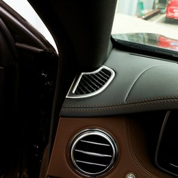 Side Vent Sticker Australia - 2pcs ABS Car Dashboard Vent Cover Side Air Outlet Moulding Trim Sticker for Mercedes Benz 2014 2015 2016 S-Class S320 S350 s500 Styling