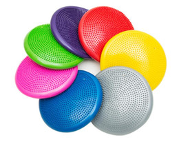 Stability diSc online shopping - 33cm Durable Universal Inflatable Yoga Wobble Stability Balance Disc Massage Cushion Mat Yoga Exercise Fitness point Massage Ball