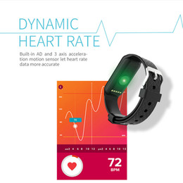 monitor dynamics Australia - L38I Bluetooth Smart Band Dynamic Heart Rate Monitor Full color TFT-LCD Screen Smartband for IOS Android Smartphone