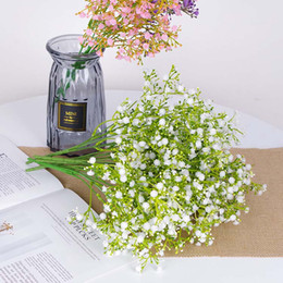 Flower Fillers online shopping - 3 colors silk Artificial baby s breath gypsophila flower wedding decoration bouquet filler flowers white babys breath