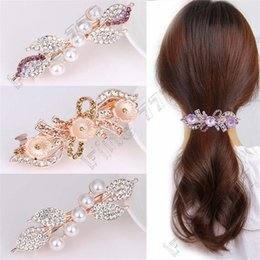 $enCountryForm.capitalKeyWord Australia - Hottest Pearl rhinestone hairpin butterfly combined with blond hair clips lady flower hairpin hair accessories Baby hair accessories