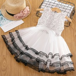 $enCountryForm.capitalKeyWord Australia - Summer Baby Dress For Girl Party Wear Tutu Lace Design Princess Dress Kids Clothes Children's Clothing Girl 3 to 8 Years Multi Layers