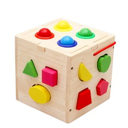 Chinese  Thirteen-hole intelligence box Geometry blocks Baby early education enlightenment cognitive three-dimensional shape children's toys manufacturers