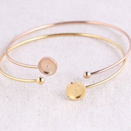 $enCountryForm.capitalKeyWord Australia - fit 8mm cabochon bracelet base settings stainless steel elegant vintage fashion bangle bezel blanks diy bracelets making findings