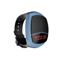 Chinese  B90 Mini Bluetooth Speaker Smart Watch Speaker Wireless Subwoofers Speaker With Screen Support TF FM USB manufacturers