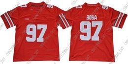 $enCountryForm.capitalKeyWord Australia - Cheap custom Ohio State Buckeyes #97 Joey Bosa Red Stitched College Jersey Customized Any name number Stitched Jersey XS-5XL