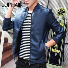 $enCountryForm.capitalKeyWord Australia - Leather Body Men's Jacket Stand Collar Motorcycle Leather Men's Korean Version of The Motorcycle Wash RepairJacket Handsome Man