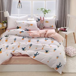 Discount black white silver comforter sets - Cactus 4pcs Girl Boy Kid Bed Cover Set Duvet Cover Adult Child Bed Sheets And Pillowcases Comforter Bedding Set 2TJ-6102