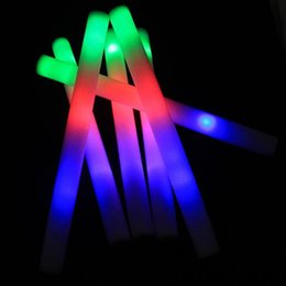 foam toys material 2019 - Multi color material foam changing led glow stick christmas Electronic Concert Multicolor sponge stick flash stick