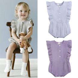 Cotton Wholesalers Australia - New 2019 cotton newborn baby girl clothes Summer baby romper Newborn Romper Infant Jumpsuit baby infant girl designer clothes A5570