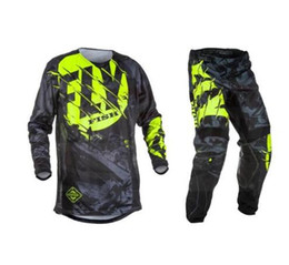 $enCountryForm.capitalKeyWord NZ - Fly Fish Pants & Jersey Combos Motocross MX Racing Suit Motorcycle Moto Dirt Bike MX ATV Gear Set
