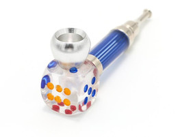 Metal Dice Australia - Manufacturer's Direct Selling Creative Big Dice Pipe Transparent Pipe Long Nozzle Acrylic Material Metal Smoke Removable Cleaning