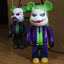 joker pvc action figure UK - 11in 28cm 400% Be@rbrick DIY Fashion Toy PVC Dark Knight Joker HeathLedger Teddy bear Action Figure Collectible Model Toy