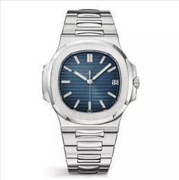 Top Nautilus Reloj Automático Reloj de lujo para hombres y mujeres 5711 Correa de reloj de plata Acero inoxidable azul Hombres y mujeres maquinaria Aurorio Dil en venta
