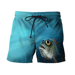 $enCountryForm.capitalKeyWord NZ - Summer Men Boxer shorts 3D Fish Printed Loose Beach Shorts Quick Dry Swimwear Large Size Swim Trunks Beachwear Sports Briefs