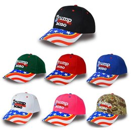 camo mesh hats Australia - 2020 Donald Trump Hats Make America Great Again Newest Camo Embroidery Snapback about 58-61cm Sports Summer Mesh Hat Leisur Party Meeting