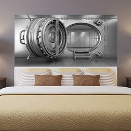 $enCountryForm.capitalKeyWord Australia - Personality 3D Bank Vault Bedside Art Mural Wall Sticker Home Decor Bedroom TV Sofa Wall Poster DIY PVC Self-adhesive Wallpaper