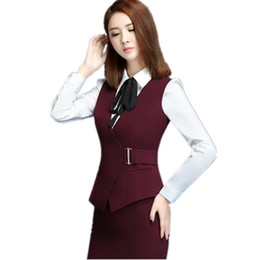 Wholesale summer waistcoats women for sale - Group buy Plus Size XL Fashion Sexy Slim Office Red Women s Vest Spring Summer V Neck Formal Waistcoat for Women Black Work Female Vest