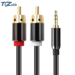 $enCountryForm.capitalKeyWord Australia - 3.5MM Audio Cable 3.5MM To 2RCA Double Lotus Audio Cable Male To Male Suitable For 3.5MM Interface Device To Turn TV PC DVD MP3 Player
