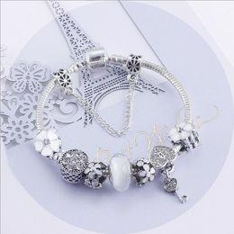 $enCountryForm.capitalKeyWord NZ - Fashion 925 Sterling Silver Clear Blue Crystal Murano Lampwork Glass & Crystal European Charm Beads Fits Pandora Charm Bracelets & Necklace