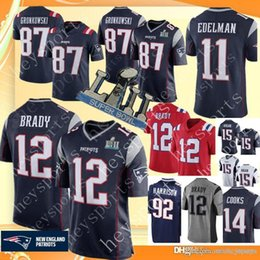 6f50151c2 New Patriots 12 Tom Brady 87 Rob Gronkowski Jersey Men s 11 Julian Edelman  15 Chris Hogan 14 Brandin Cooks Football Jerseys