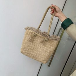 $enCountryForm.capitalKeyWord NZ - Summer Beach Straw Woven Shoulder Bag Tote Simple Portable Small Hand Bags Fashion Outdoor Crossbody Messenger Bag Totes