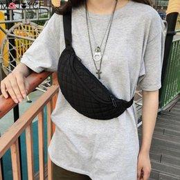 $enCountryForm.capitalKeyWord Australia - Women Casual Shoulder Bag Crossbody Bag Girl Solid Color Lattice Shoulder Women Waist Fanny Belt Packs Nylon Chest Bags