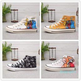 hand painting canvas shoes NZ - 2019 New Hand-painted Companion x Convase Chuck Star 1970 HI High Canvas Shoes Comfortable Designer Skateboard Shoes Fashion Sneakers