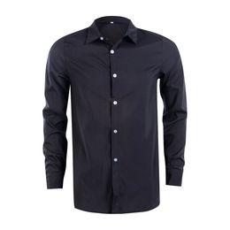 Wholesale formal shirts new fashion resale online – Autumn Winter New Fashion Men Plain Long Sleeve Formal Dress Shirt Male Candy Color Business Button Down Shirts Plus Size