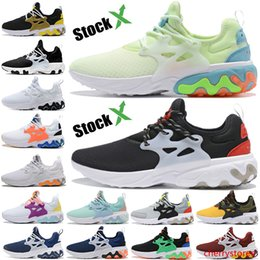 womens yellow canvas shoes NZ - Barely volt React Presto shoes Black white Yellow Phantom Red running Trainers US 5.5-11 for Mens Womens Burgundy kahki Men Women Sneakers