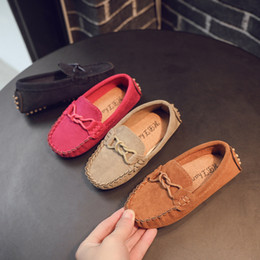 Discount suede leather baby moccasins - Baby Toddler Shoes 2019 Spring Autumn Children Soft Suede Leather Casual Shoes Kids Boys Loafers Girls Moccasins 21-35