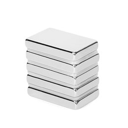 Magnet cuboid online shopping - agnetic Materials Hot mmx20mmx5mm Super Powerful Neodymium Magnet Block Permanent N52 Strong Cuboid Magnetic Rare Earth Magnets