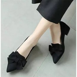 Patent leather Platform sexy shoes online shopping - Designer Dress Shoes women pumps heels women fashion ladies middle heels scarpe donna pointe platforms sexy black bowknot casual