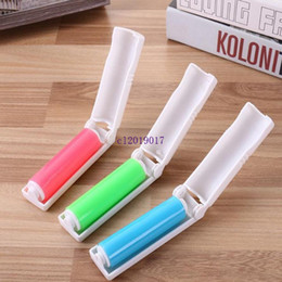 Hot Creative Mini Multicolor Portable Washable Lint Dust Hair Remover Cloth Sticky Roller Brush Recyclable Electrostatic Folding from usb fan power bank manufacturers