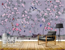 $enCountryForm.capitalKeyWord Australia - 3d wallpaper custom photo mural Hand-painted flowers, flowers, birds, pens, wall home decor wall art pictures 3 d wallpaper for walls