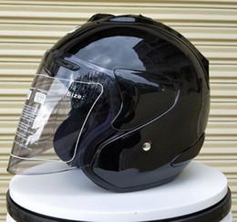 Half Helmet Black Australia - Black color Motorcycle Helmet Casque Men Helmet Breathable Men Volante Esportivo Safety Half Helmet