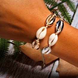 $enCountryForm.capitalKeyWord Australia - Moonlight Boho Bracelet Puka Shell Bracelet Women Fashion Cowgirl Bohemian Friendship Summer Girl Charm