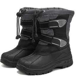waterproof snow boots boys Australia - Children Shoes For Boys winter boots for kids Child Shoes Kids Boots boys snow Fashion Waterproof Warm