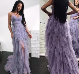 73415ee1780b Lavendel Chiffon Rüsche Kleid Online Großhandel Vertriebspartner ...