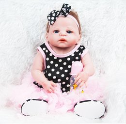 Baby Christmas Gifts Australia - 55CM 22inches Full vinyl Silicone Reborn Baby Doll Lifelike Real Touch Newborn Baby with Clothes Kids Playmate Best Birthday Christmas Gift