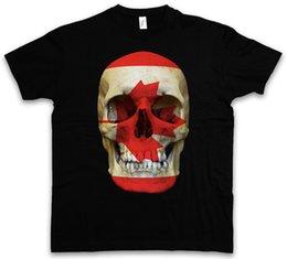 Banner sizes print online shopping - CLASSIC CANADA SKULL FLAG T SHIRT Biker MC Banner Shirt Sizes S XL